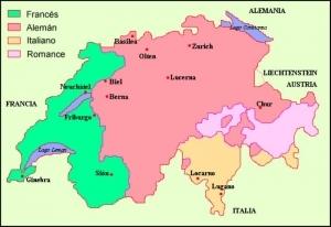 Regiones linguísticas de Suiza