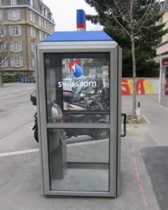 Cabina telefónica Suiza