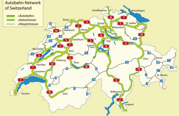 Carreteras en Suiza