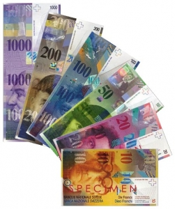 Billetes de Franco Suizo